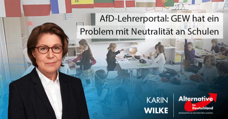 AfD-Lehrerportal: GEW hat ein Problem mit Neutralität an Schulen