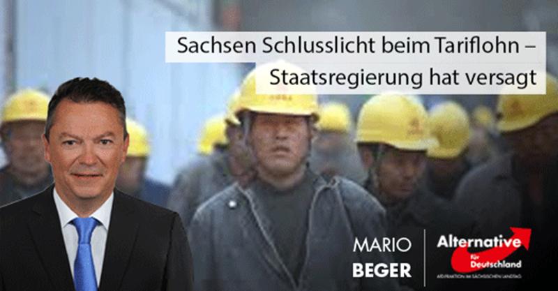 Sachsen Schlusslicht beim Tariflohn – Staatsregierung hat versagt