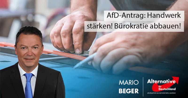 AfD-Antrag: Handwerk muss endlich gestärkt werden