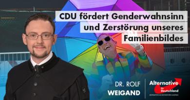 CDU fördert Genderwahnsinn und Zerstörung unseres Familienbildes