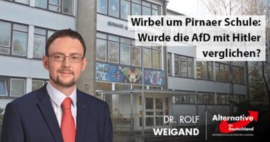 Wirbel um Pirnaer Schule: Wurde die AfD mit Hitler verglichen?