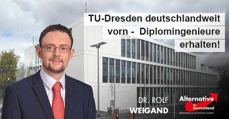 TU-Dresden deutschlandweit vorn - Diplomingenieure erhalten!