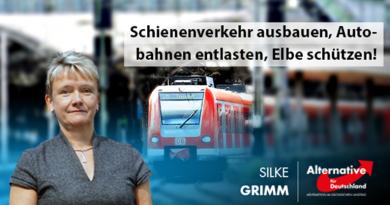 Schienenverkehr ausbauen, Autobahnen entlasten, Elbe schützen!