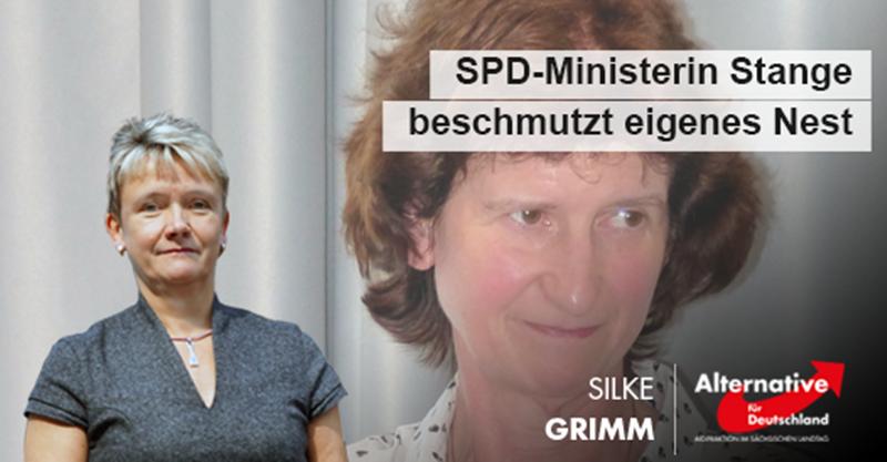 SPD-Regierungsministerin Stange beschmutzt eigenes Nest