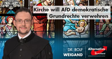 Kirche will AfD demokratische Grundrechte verwehren
