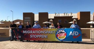 Sachsen-AfD protestiert in Marrakesch