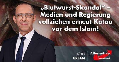 """""""Blutwurst-Skandal"""" – Medien und Regierung vollziehen erneut Kotau vor dem Islam!"""