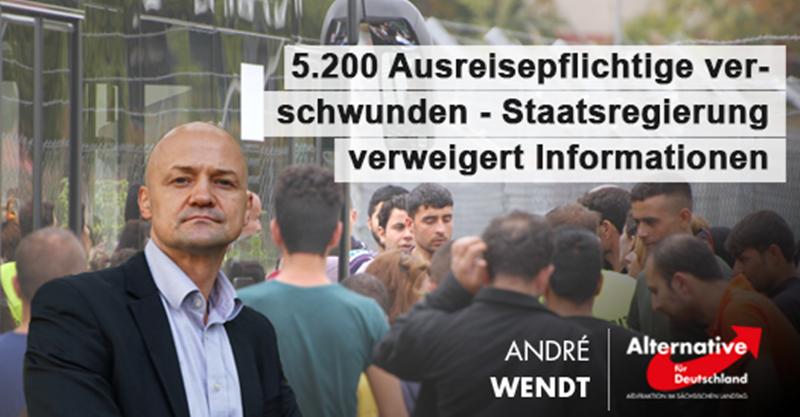 CDU/SPD-Regierung hat keine Ahnung, wo sich 5.200 Ausreisepflichtige aufhalten