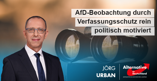 AfD-Beobachtung durch Verfassungsschutz rein politisch motiviert