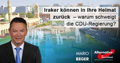 Iraker können zurück in ihre Heimat – warum schweigt die CDU-Regierung?