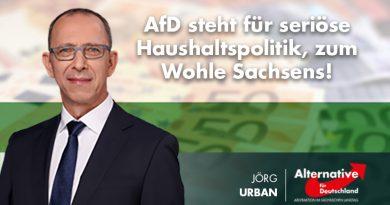 AfD steht für seriöse Haushaltspolitik, zum Wohle Sachsens!