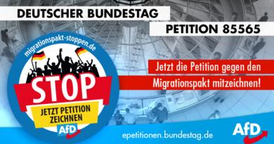 Migrationspakt: Diskussionsforum tot, Petition weiter zeichenbar
