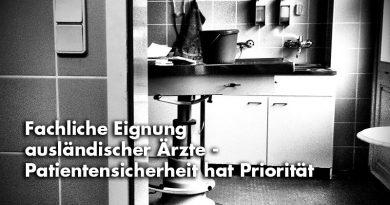 Spangenberg: Fachliche Eignung ausländischer Ärzte – Patientensicherheit hat Priorität
