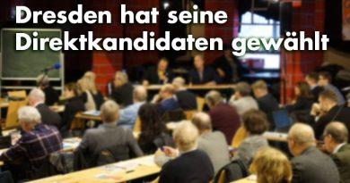Dresden hat seine Direktkandidaten zur Landtagswahl 2019 gewählt.