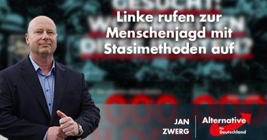 Linke rufen zur Menschenjagd mit Stasimethoden auf