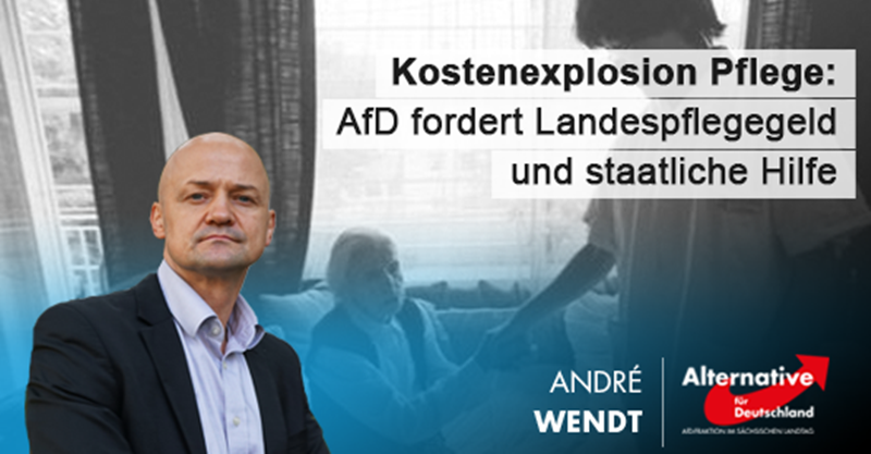 Kostenexplosion Pflege: AfD fordert Landespflegegeld und staatliche Hilfe