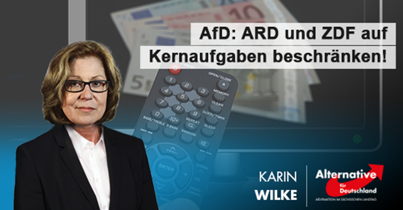 AfD: ARD und ZDF auf Kernaufgaben beschränken!