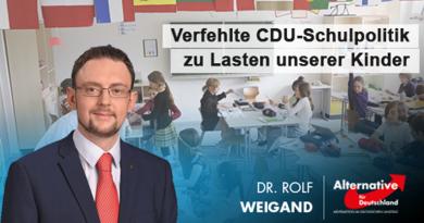 Verfehlte CDU-Schulpolitik zu Lasten unserer Kinder