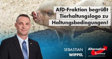 AfD-Fraktion begrüßt Tierhaltungslogo zu Haltungsbedingungen!