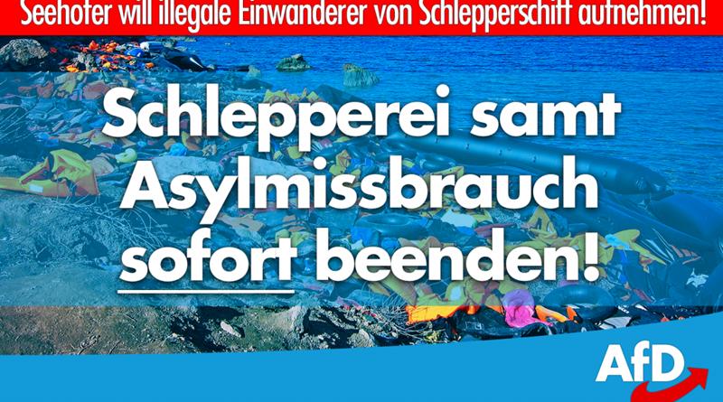 Seehofer will illegale Einwanderer von Schlepperschiff aufnehmen!