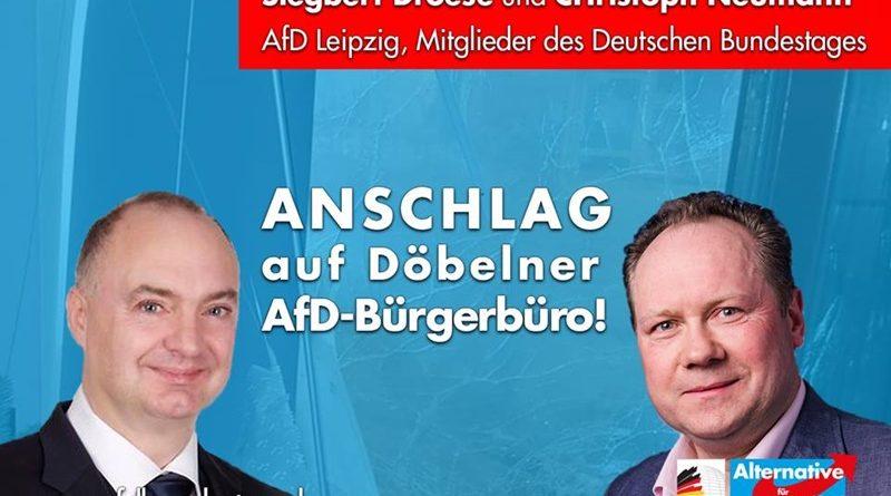 SPRENGSTOFFANSCHLAG auf Döbelner AfD-Bürgerbüro!