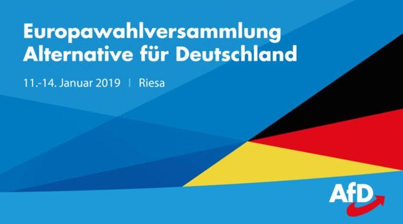 Am 11. Januar startet die 2. Europawahl-Versammlung der AfD in Riesa