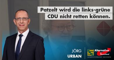 Patzelt wird die links-grüne CDU nicht retten können.