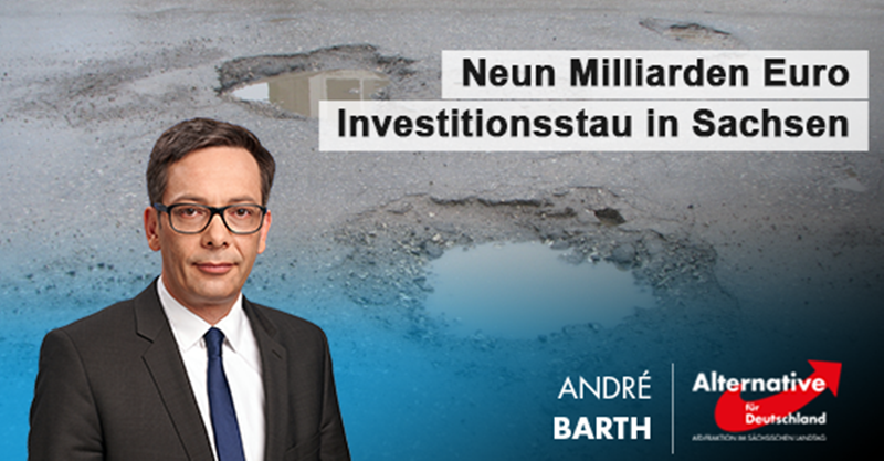 Neun Milliarden Euro Investitionsstau in Sachsen