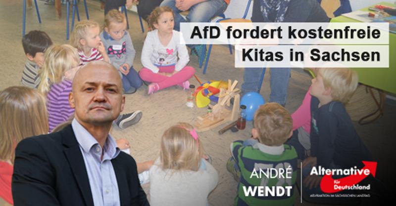 AfD fordert kostenfreie Kitas in Sachsen