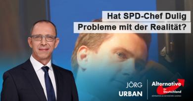 Hat SPD-Chef Dulig Probleme mit der Realität?