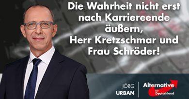 Die Wahrheit nicht erst nach Karriereende äußern, Herr Kretzschmar und Frau Schröder!