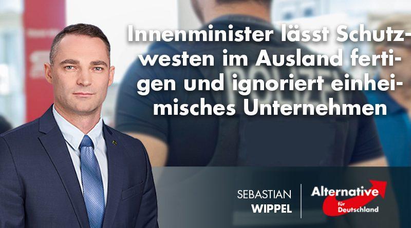 Innenminister lässt Schutzwesten im Ausland fertigen und ignoriert einheimisches Unternehmen