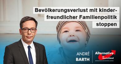 Bevölkerungsverlust mit kinderfreundlicher Familienpolitik stoppen