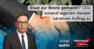 Staat zur Beute gemacht? CDU schanzt eigenem Berater lukrativen Vertrag zu