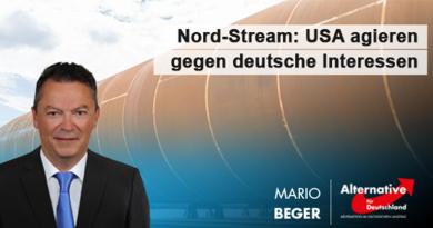 Nord-Stream: USA agieren gegen deutsche Interessen