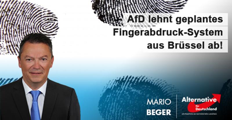 AfD lehnt geplantes Fingerabdruck-System aus Brüssel ab!