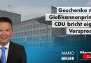 Geschenke nach Gießkannenprinzip: CDU bricht eigene Versprechen