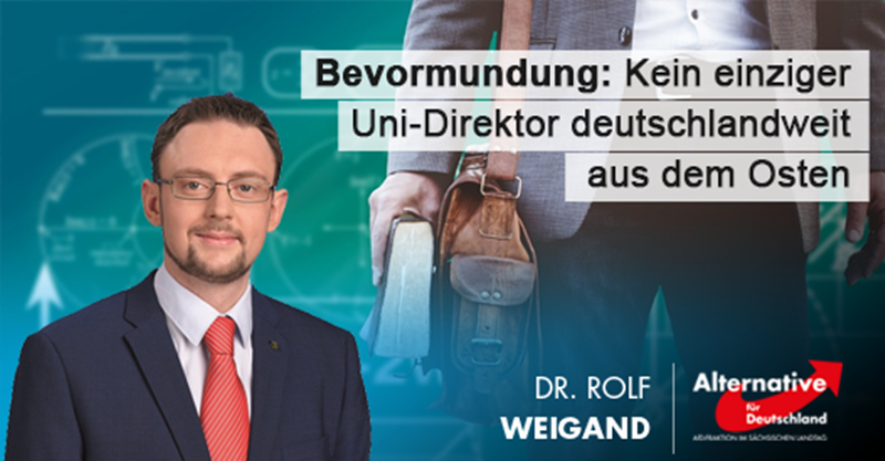 Bevormundung: Kein einziger Uni-Direktor deutschlandweit aus dem Osten