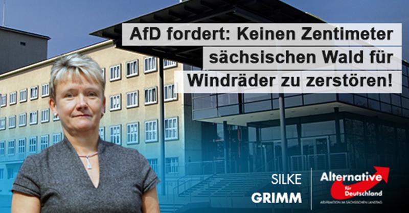 AfD fordert: Keinen Zentimeter sächsischen Wald für Windräder zu zerstören!