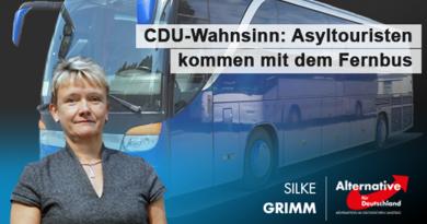 CDU-Wahnsinn: Asyltouristen kommen mit dem Fernbus