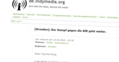 Bekennerschreiben auf Indymedia, einer digitalen Kloake gewaltaffiner Psychopathen