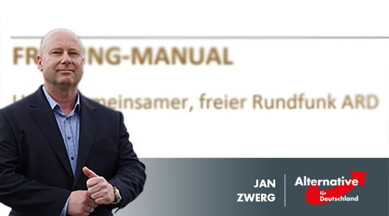 ARD-Umerziehungspapier von Gebührengeldern bezahlt? AfD fordert Aufklärung!