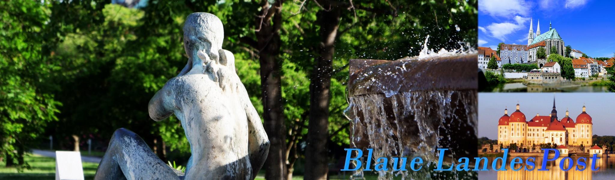 Blaue Landespost