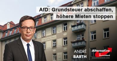 AfD: Grundsteuer abschaffen, höhere Mieten stoppen