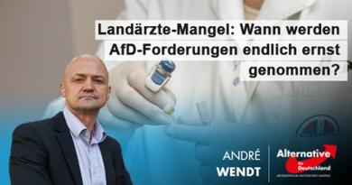 Landärzte-Mangel: Wann werden AfD-Forderungen endlich ernst genommen?