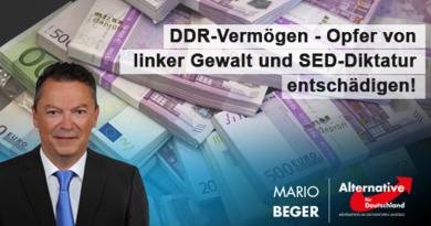 DDR-Vermögen - Opfer von linker Gewalt und Opfer des SED-Regimes entschädigen