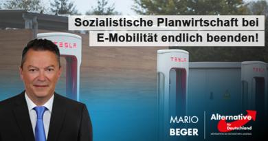 Sozialistische Planwirtschaft bei E-Mobilität endlich beenden!