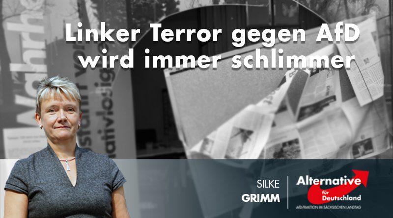 Linker Terror gegen AfD wird immer schlimmer