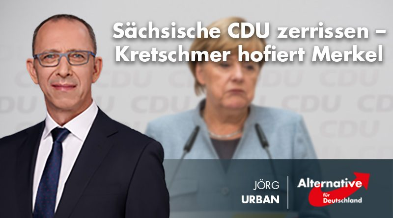 Sächsische CDU zerrissen – Kretschmer hofiert Merkel