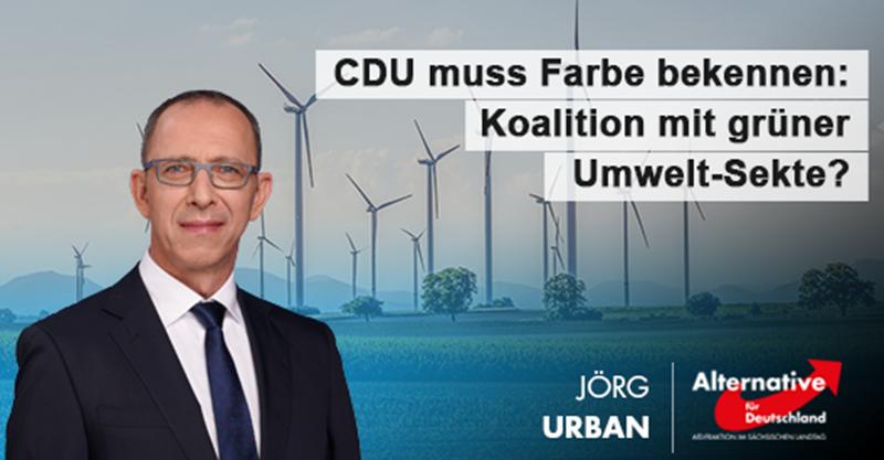 CDU muss Farbe bekennen: Koalition mit grüner Umwelt-Sekte?